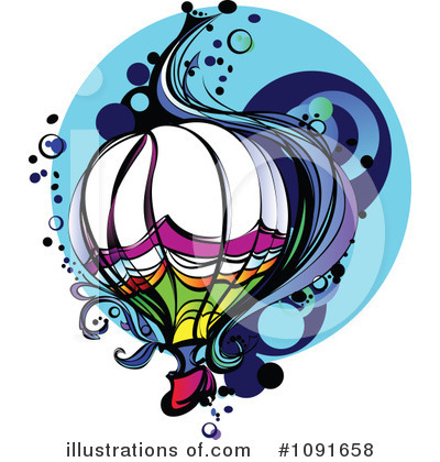 Balloons Clipart #1091658 by Chromaco