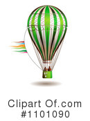Royalty-Free (RF) Hot Air Balloon Clipart Illustration #1101090