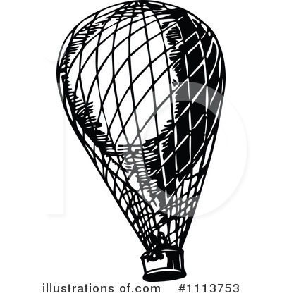Hot Air Balloon Clipart #1113753 by Prawny Vintage