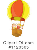 Royalty-Free (RF) Hot Air Balloon Clipart Illustration #1120505