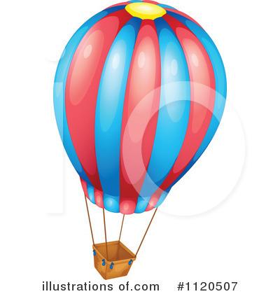 Hot Air Balloon Clipart #1120507 - Illustration by colematt