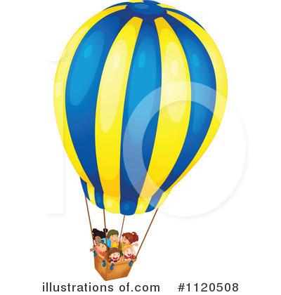 Hot Air Balloon Clipart #1120508 - Illustration by colematt