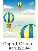 Royalty-Free (RF) Hot Air Balloon Clipart Illustration #1132304