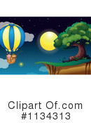 Royalty-Free (RF) Hot Air Balloon Clipart Illustration #1134313