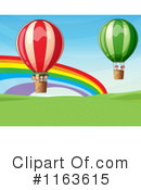 Royalty-Free (RF) hot air balloon Clipart Illustration #1163615