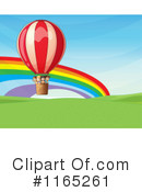 Royalty-Free (RF) Hot Air Balloon Clipart Illustration #1165261