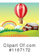 Royalty-Free (RF) Hot Air Balloon Clipart Illustration #1167172