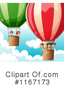 Royalty-Free (RF) Hot Air Balloon Clipart Illustration #1167173