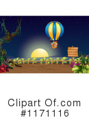 Royalty-Free (RF) hot air balloon Clipart Illustration #1171116
