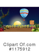 Royalty-Free (RF) hot air balloon Clipart Illustration #1175912