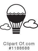 Royalty-Free (RF) Hot Air Balloon Clipart Illustration #1188688