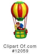 Royalty-Free (RF) hot air balloon Clipart Illustration #12059