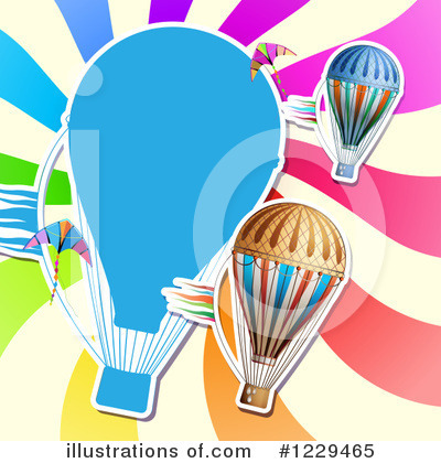 Hot Air Balloon Clipart #1229465 by merlinul