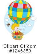 Royalty-Free (RF) Hot Air Balloon Clipart Illustration #1246359