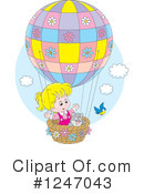 Royalty-Free (RF) Hot Air Balloon Clipart Illustration #1247043