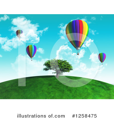 Hot Air Balloon Clipart #1258475 by KJ Pargeter