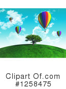 Royalty-Free (RF) Hot Air Balloon Clipart Illustration #1258475