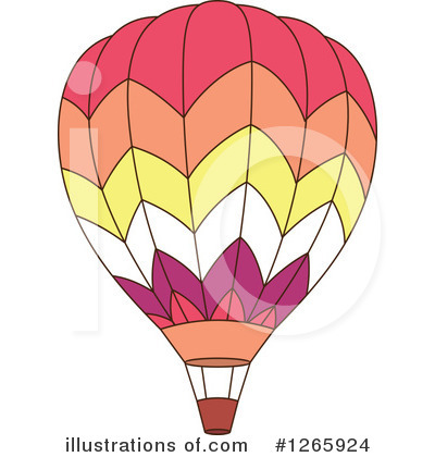 Hot Air Balloon Clipart #1265924 - Illustration by Vector Tradition SM