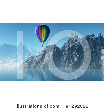 Hot Air Balloon Clipart #1292822 by KJ Pargeter