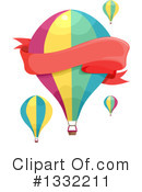 Royalty-Free (RF) Hot Air Balloon Clipart Illustration #1332211