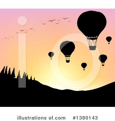 Hot Air Balloon Clipart #1380143 by Graphics RF