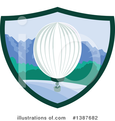 Royalty-Free (RF) Hot Air Balloon Clipart Illustration by patrimonio - Stock Sample #1387682