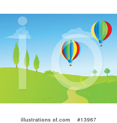 Royalty-Free (RF) Hot Air Balloon Clipart Illustration by Rasmussen Images - Stock Sample #13967