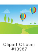 Royalty-Free (RF) Hot Air Balloon Clipart Illustration #13967