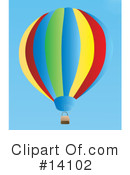 Royalty-Free (RF) Hot Air Balloon Clipart Illustration #14102