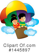 Royalty-Free (RF) Hot Air Balloon Clipart Illustration #1445897