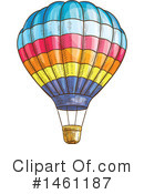 Hot Air Balloon Clipart #1461187 by Vector Tradition SM