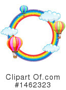 Royalty-Free (RF) Hot Air Balloon Clipart Illustration #1462323