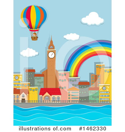 Royalty-Free (RF) Hot Air Balloon Clipart Illustration by Graphics RF - Stock Sample #1462330