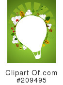 Royalty-Free (RF) Hot Air Balloon Clipart Illustration #209495