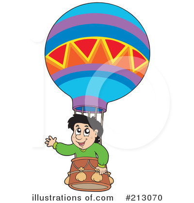 Royalty-Free (RF) Hot Air Balloon Clipart Illustration by visekart - Stock Sample #213070