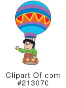 Royalty-Free (RF) Hot Air Balloon Clipart Illustration #213070