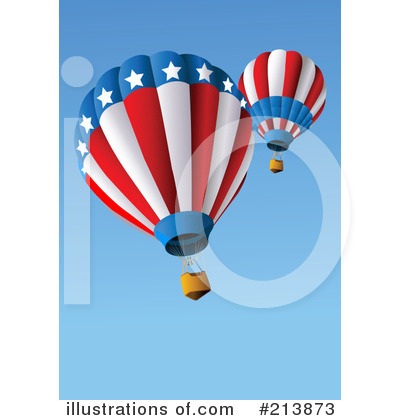Royalty-Free (RF) Hot Air Balloon Clipart Illustration by Pushkin - Stock Sample #213873