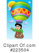 Royalty-Free (RF) Hot Air Balloon Clipart Illustration #223504