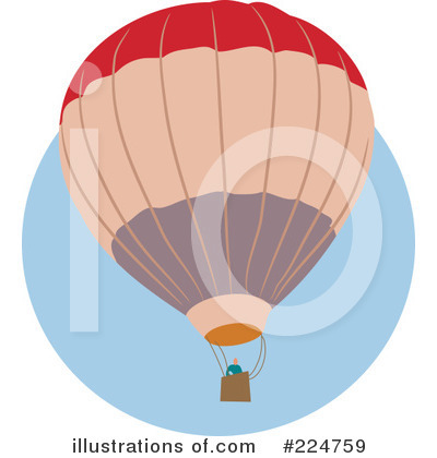 Royalty-Free (RF) Hot Air Balloon Clipart Illustration by Prawny - Stock Sample #224759