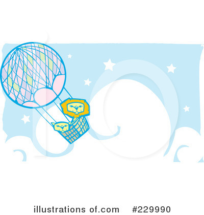 Royalty-Free (RF) Hot Air Balloon Clipart Illustration by xunantunich - Stock Sample #229990