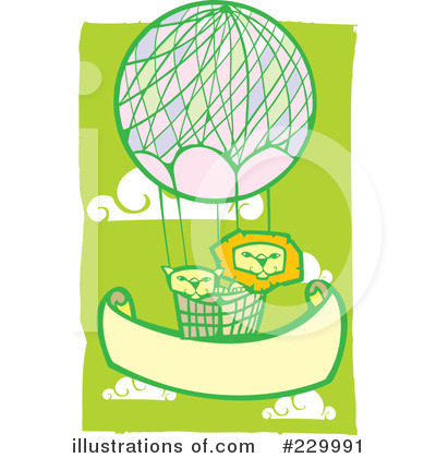Royalty-Free (RF) Hot Air Balloon Clipart Illustration by xunantunich - Stock Sample #229991