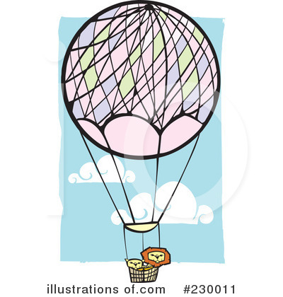Royalty-Free (RF) Hot Air Balloon Clipart Illustration by xunantunich - Stock Sample #230011