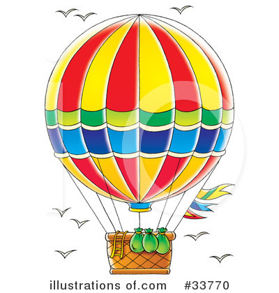 Royalty-Free (RF) Hot Air Balloon Clipart Illustration by Alex Bannykh - Stock Sample #33770