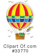 Royalty-Free (RF) Hot Air Balloon Clipart Illustration #33770