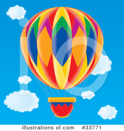 Royalty-Free (RF) Hot Air Balloon Clipart Illustration by Alex Bannykh - Stock Sample #33771