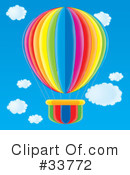 Royalty-Free (RF) Hot Air Balloon Clipart Illustration #33772