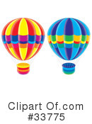 Royalty-Free (RF) hot air balloon Clipart Illustration #33775