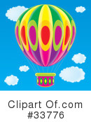 Royalty-Free (RF) Hot Air Balloon Clipart Illustration #33776