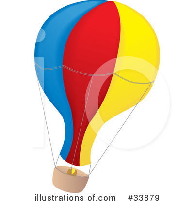 Royalty-Free (RF) Hot Air Balloon Clipart Illustration by Rasmussen Images - Stock Sample #33879