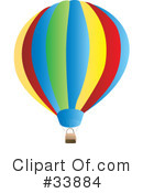 Royalty-Free (RF) hot air balloon Clipart Illustration #33884